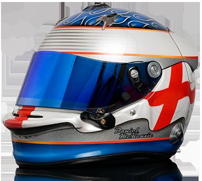 Daniel McKenzie race helmet