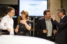 Daniel at the Aston Martin Racing launch