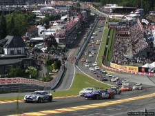 Leading through Eau Rouge for the first time