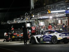 A night-time pitstop at Spa for the Beechdean AMR team