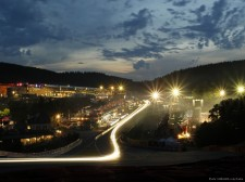 Eau Rouge at night